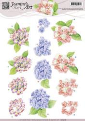 Jeanine's Art knipvel hortensia CD10738 (Locatie: 4620)