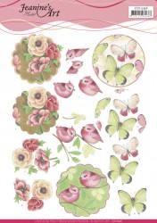 Jeanine's Art knipvel vogel en vlinder CD11296 (Locatie: 4336)