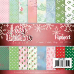 Jeanine's Art, Paperpack, 15.2 x 15.2 cm, Lovely Christmas, JAPP10012 (Locatie: s2)