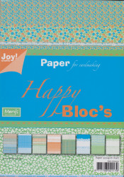 Joy Crafts papierblok A5 Happy Bloc's groen-blauw 6011 0031