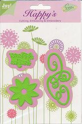 Joy! Crafts snij- embos- en borduurmal  A Flower for You 6002/1103 (Locatie: E312)