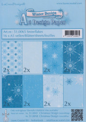 Le Crea Design, design paper, Snowflakes, A5 51.0065 (Locatie: s2)