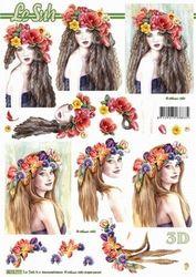 Le Suh knipvel Dame met bloemen 8215717 (Locatie: 2786)