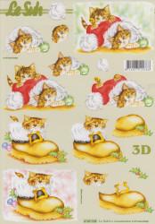 Le Suh knipvel poes in kerstmuts/schoen 4169765 (Locatie: 1117)