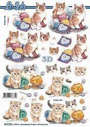 Le Suh Nouvelle 3D stappenvel Kittens 8215783 (Locatie: 0104)