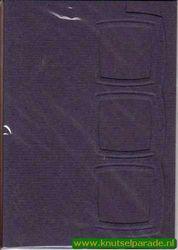 Lomiac kaart met drie kaders A6 blauw 3 stuks LC2103 (Locatie: Q012)