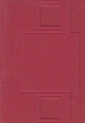Lomiac kaart rood met vierkant A6 3 stuks nr. LC2101 (Locatie: Q017)