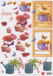 Marianne design knipvel bloemen 3DFK1237 (Locatie: 4730)