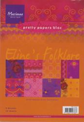 Marianne Design Pretty Paper Bloc Eline's folklore A5 PB7033 (Locatie: 1RC5 )