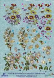 Metallic knipvel bloemen nr. 111742113 (Locatie: 4503)