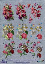 Metallic knipvel bloemen nr. 248604 (Locatie: 4328)