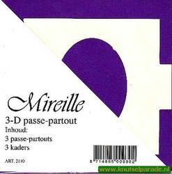 Mireille vierkante kaart paars 3 stuks 2110 (Locatie: Z51 )