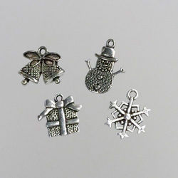Nellie's Choice 8 metalen bedels Kerst CHARM005 (Locatie: K3)