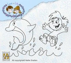 Nellie Snellen Clear Stamp Lars & Lilly dolphin LILA010 (Locatie: A310 )