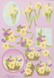 Nielsen cards knipvel bloemen E6 (Locatie: 1452)