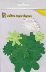 NS paper flowers christmas green (Locatie: k3)