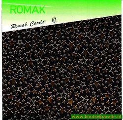 Romak foliedrukvellen 6 stuks sterren goud K5 325 95G (Locatie: HH104 )