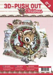 Stansboek Christmas, 24 afbeeldingen en 8 designpapier, 3DPO10003 (Locatie: 1254)