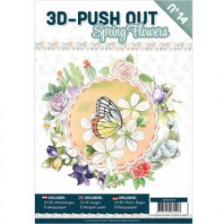 Stansboek Spring Flowers, 24 afbeeldingen en 8 designpapier, 3DPO10014 (Locatie: 0425)