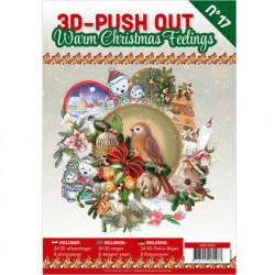 Stansboek Warm Christmas Feelings, 24 afbeeldingen en 8 designpapier, 3DPO10017 (Locatie: 0425)