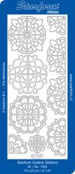 Starform sticker hoeken zilver 1002 (Locatie: i463)