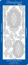 Starform sticker ornamenten goud 1045 (Locatie: i460)