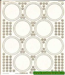Starform sticker transparant goud nr. 3102 (Locatie: 6129)