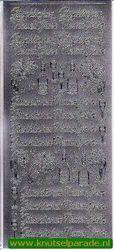 Starform sticker zilver Glückliches Neues Jahr 453 (Locatie: F163)