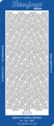 Starform sticker zilver randje 1260 (Locatie: A244)