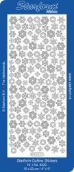 Starform sticker zilver sneeuwvlokken 8530 (Locatie: J352)