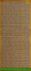 Starform stickervel goud randjes 1181 (Locatie: T036)