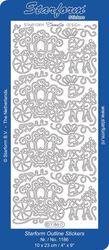 Starform stickervel huwelijk zilver 1186 (Locatie: H190 )