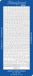 Starform stickervel letters zilver 814 (Locatie: g307)