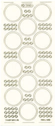 Starform stickervel transparant gouden rondjes 3180 (Locatie: G084)
