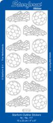 Starform stickervel voetbal oranje 0117 (Locatie: B019)