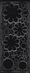 Sticker bloemen zwart 121001 0459 (Locatie: B243)