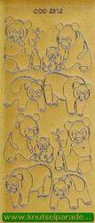 Sticker goud beren DD 5315 (Locatie: NN131 )