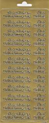 Sticker goud herzlichen glückwunsch 3610 (Locatie: H266 )