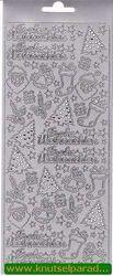 Sticker zilver frohe weihnachten 3635 (Locatie: H263 )