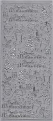 Sticker zilver frohe weinachten 1103 (Locatie: B269)