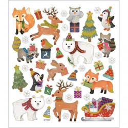 Stickers, vel 15x16,5 cm, kerstmis, 29119 (Locatie: 0321)