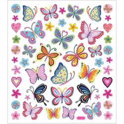 Stickers, vel 15x16,5 cm, vlinder, 28885 (Locatie: 2201)