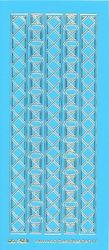 Stickervel blauw/goud nr. 3021 (Locatie: K165 )