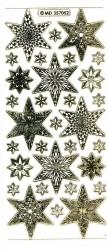 Stickervel kerstmis sterren transparant goud MD357052 (Locatie: U253)