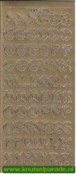 Stickervel letters goud DD6201 (Locatie: C190)