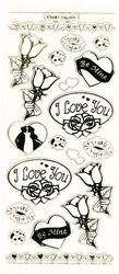 Stickervel liefde transparant goud MD356301 (Locatie: A010)