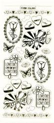 Stickervel liefde transparant goud MD356304 (Locatie: A023)