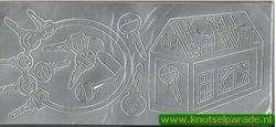 Stickervel zilver huis met sleutels (Locatie: G170)