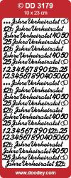 Stickervel zilver Jahre Verheiratet DD3179 (Locatie: A021 )