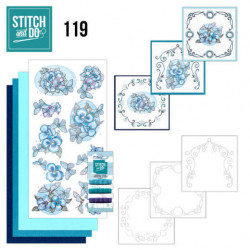 Stitch and Do 119 Blue Butterflies STDO119